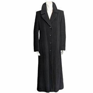 Vintage wool and angora  long black coat